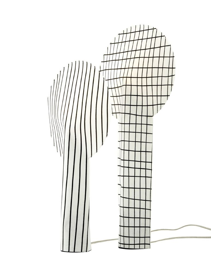 PAPER LAMP by Rene Barba. A soft fabric fireproof shade makes an interesting shape for a light.