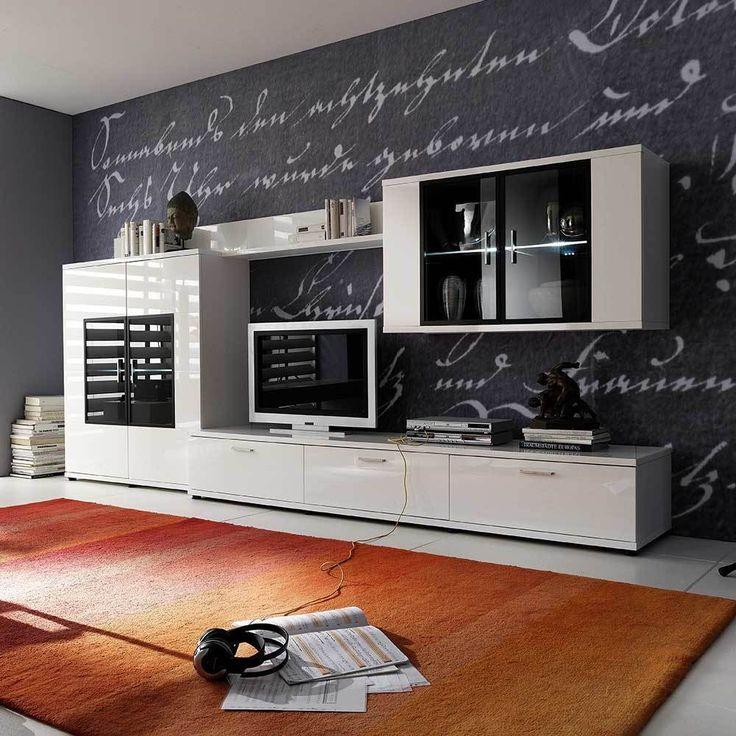 Design Wohnwand In Hochglanz Weiß Beleuchtung (4 Teilig) Jetzt Bestellen  Unter: Https://moebel.ladendirekt.de/wohnzimmer/schraenke/wohnwaende/?uidu003dccd42457   ...