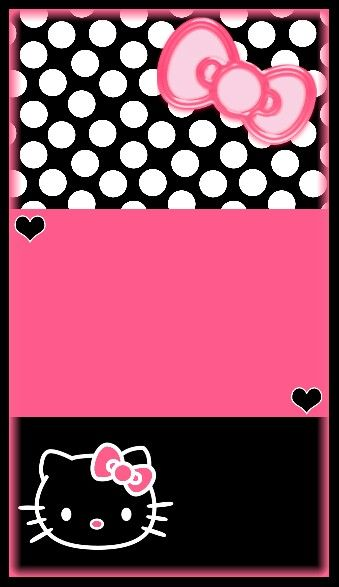 Pink Black White Hello Kitty Wallpaper Made By Me Pinterest