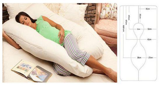 Molde para hacer una almohada para embarazada02