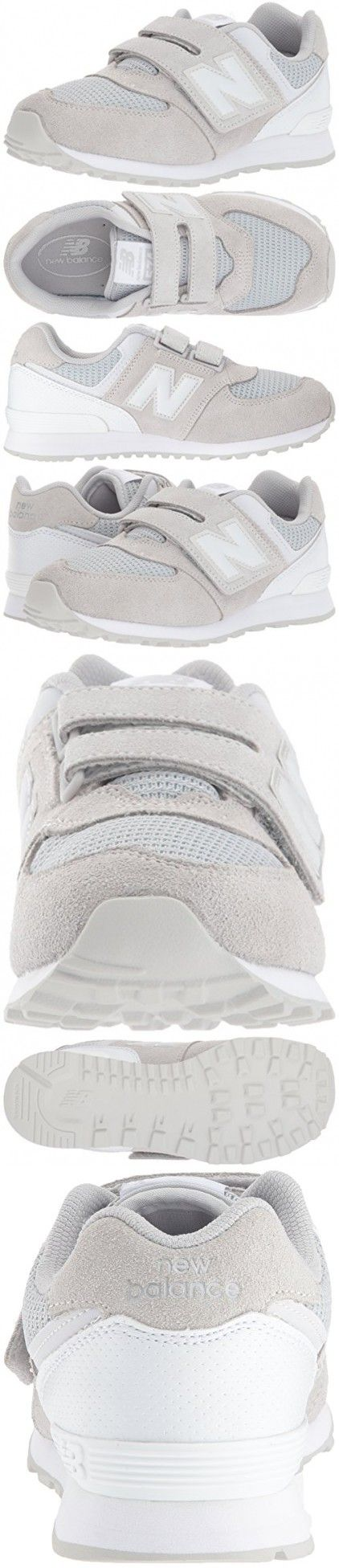 New Balance Boys' KV574 Hook and Loop Sneaker, Grey/White, 9 Wide US Infant