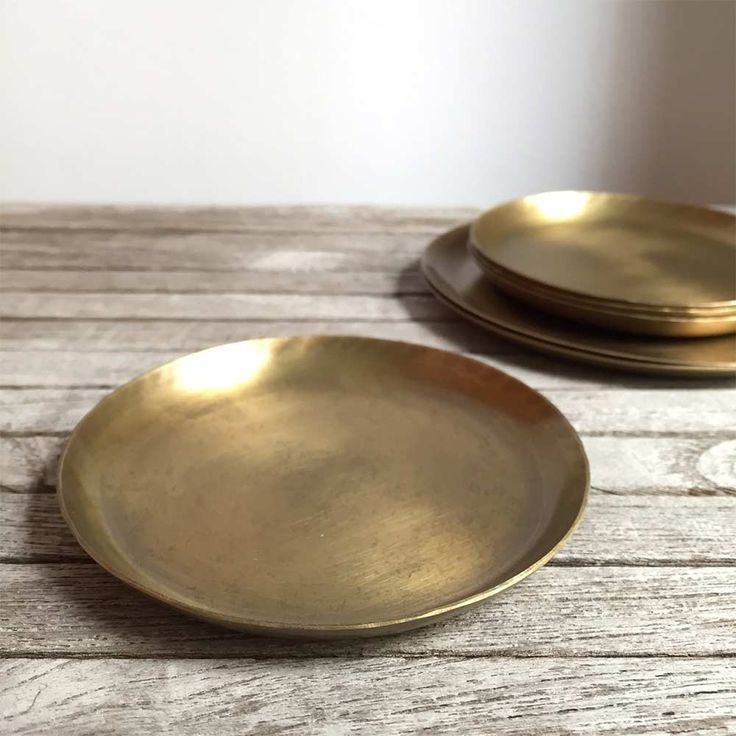 Round Brass Tray | The Society inc. by Sibella Court
