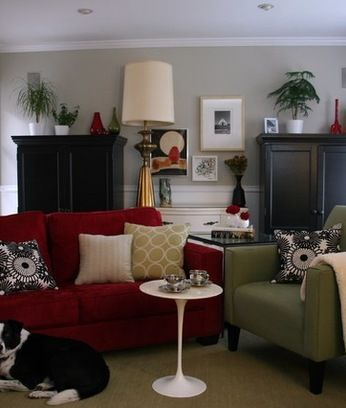 Wall Color With Red Couch Home Design Ideas, Pictures, Remodel And Decor Gallery