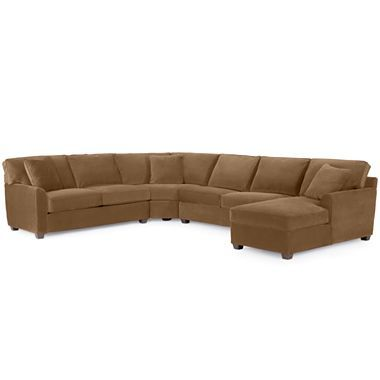Possibilities 4 pc loveseat chaise sectional with sleeper for Jcpenney living room chairs