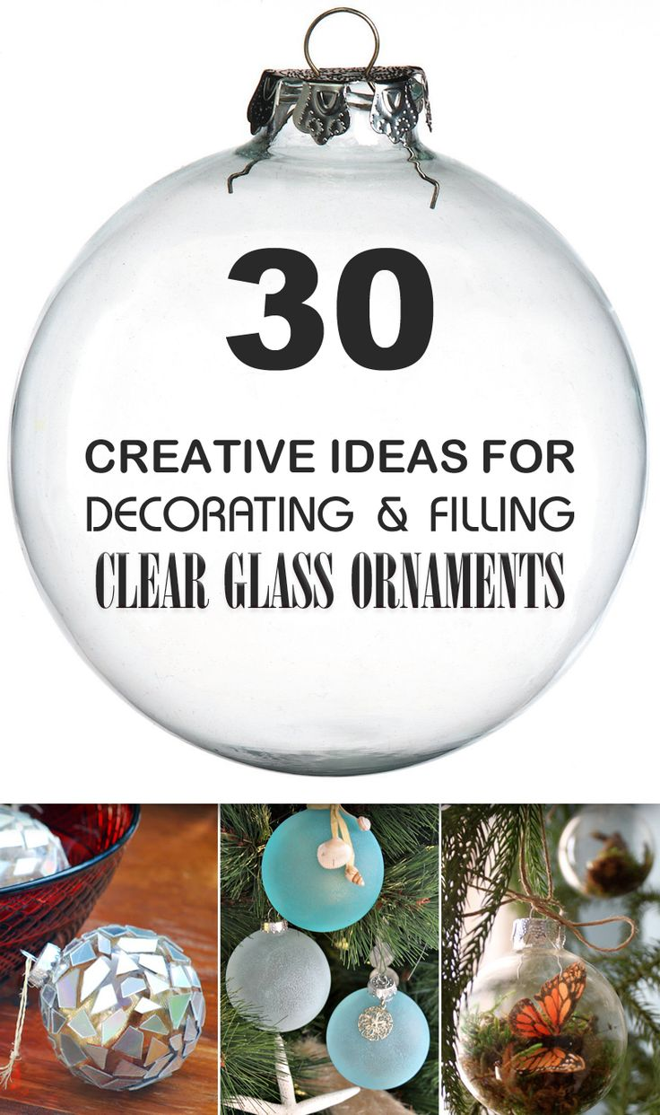Clear christmas bulbs for crafting - 30 Creative Ideas For Decorating And Filling Clear Glass Ornaments Christmas Crafts