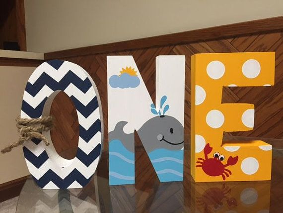Ahoy Matey - Nautical - One - First Birthday - Baby Shower - Hand Painted…