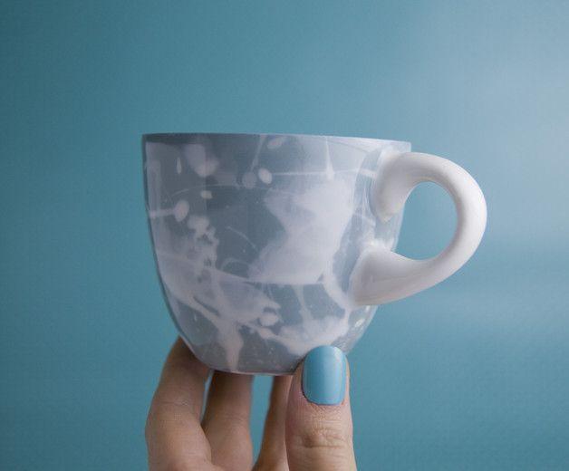 Einzigartig Tasse aus porzellan, machen mit Färbung Masse  Technik hergestellt Die Keramik wurde bei 1260°C gebrannt und kann ohne Probleme im Geschirrspüler gewaschen werden.