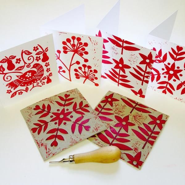Lizzie Mabley - Winner Linocut Christmas Cards