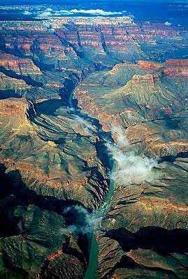 Aerial view of the Grand Canyon.  Saw this view from a small Cessna airplane I was in.