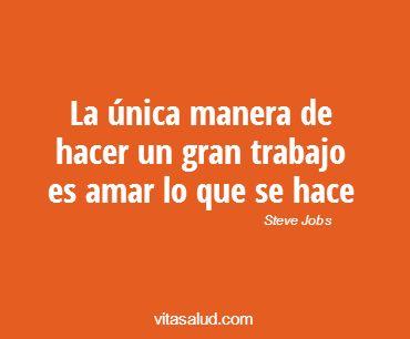 ¡Ama lo que haces, siempre!¡Feliz viernes! Más frases motivacionales en http://www.vitasalud.com/frase-del-dia/