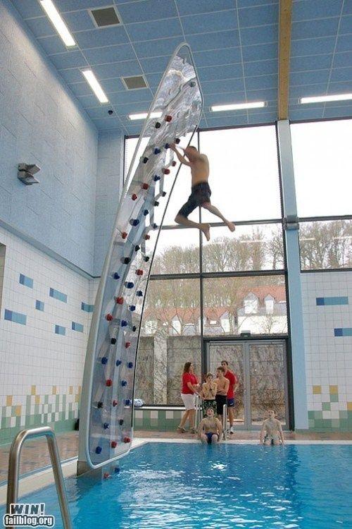 pool rockclimbing wall teves13