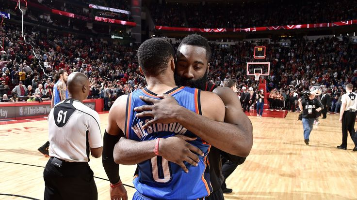 #JamesHarden and Russell #Westbrook are titans terrifying the #NBA http://www.sbnation.com/nba/2017/1/6/14186820/2017-nba-scores-james-harden-russell-westbrook-stats-triple-double
