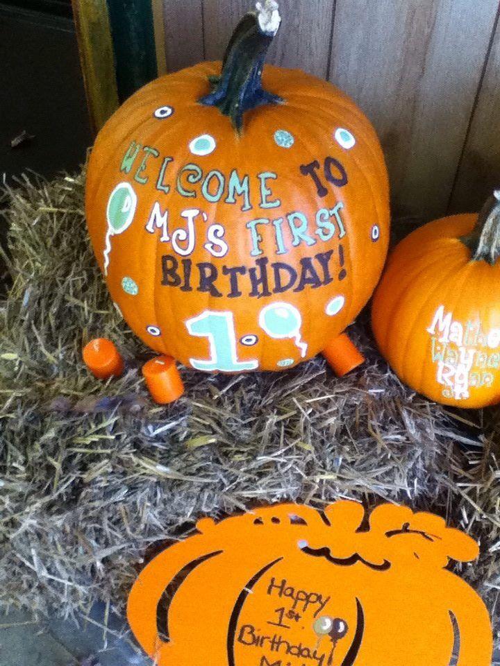 Little pumpkin 1st birthday