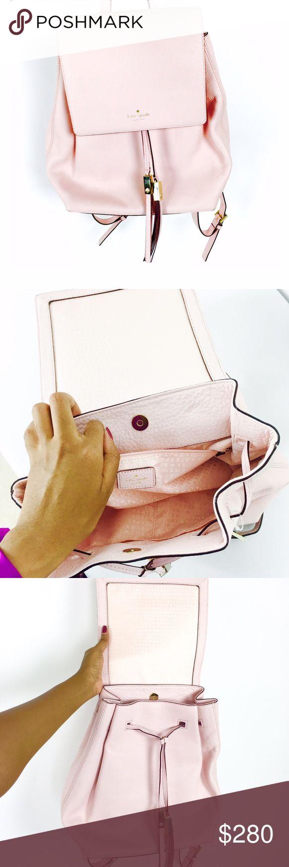 KATE SPADE (New + Rare) pink wilder bag | backpack Feminine posy pale pink and gold backpack by Kate Spade! NWOT, never worn! kate spade Bags Backpacks