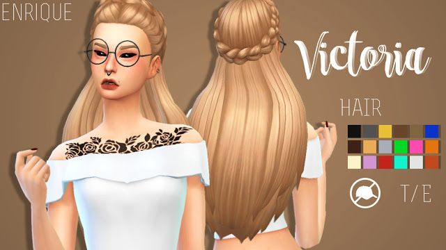Sims 4 CC's - The Best: Hair by Enrique