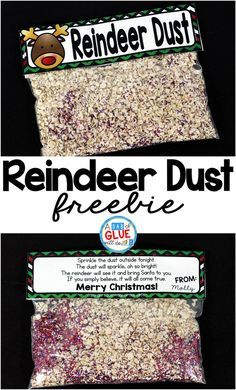 Reindeer Dust is the perfect free printable for your students or your child's friends at school. This fun activity will make their Christmas magical. It is perfect for preschool, kindergarten, and first grade students.