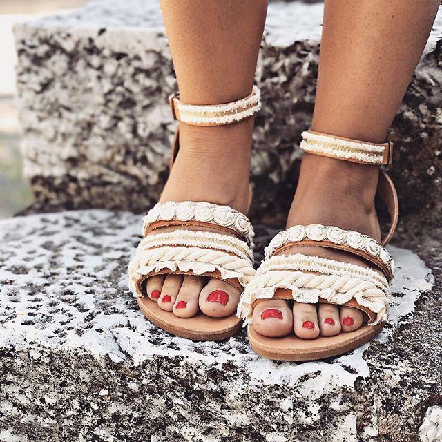 • Aria Sandals • 🐚🌸 Ivory or White? www.twininas.gr & www.twininas.com #twininas #leather #sandals #twininastales #weddingsandals #customsandals #bridalsandals #bridalshoes #beachwedding #bohowedding #collection #tasselsandals #strappysandals #leathersandals #boho #ivorysandals #lacesandals #summerwedding #instadaily #igdaily #fashiongram #stylegram #instafashion #instastyle #giftforher #beachliving #instalifo #bridestory #inspiration