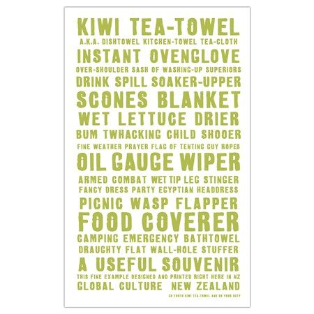 NZ tea towel duties - Global Culture - some very funny uses for the basic tea towel.