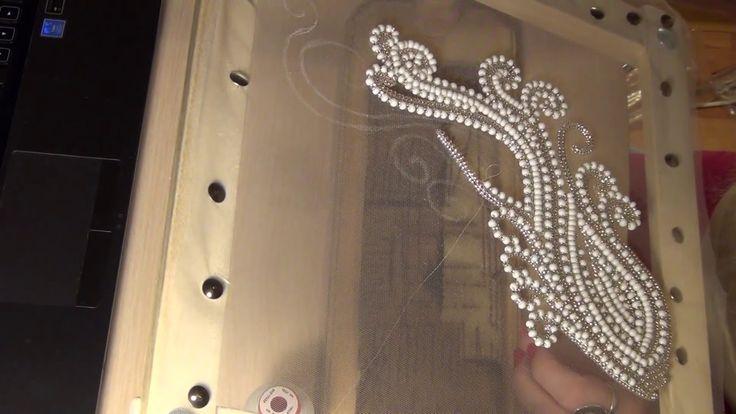 Вышивка люневильским крючком от Виктории Бойко, свадебная вышивка