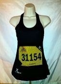New Women's Black Racerback Tank- with bib protector pocket. Awesome!