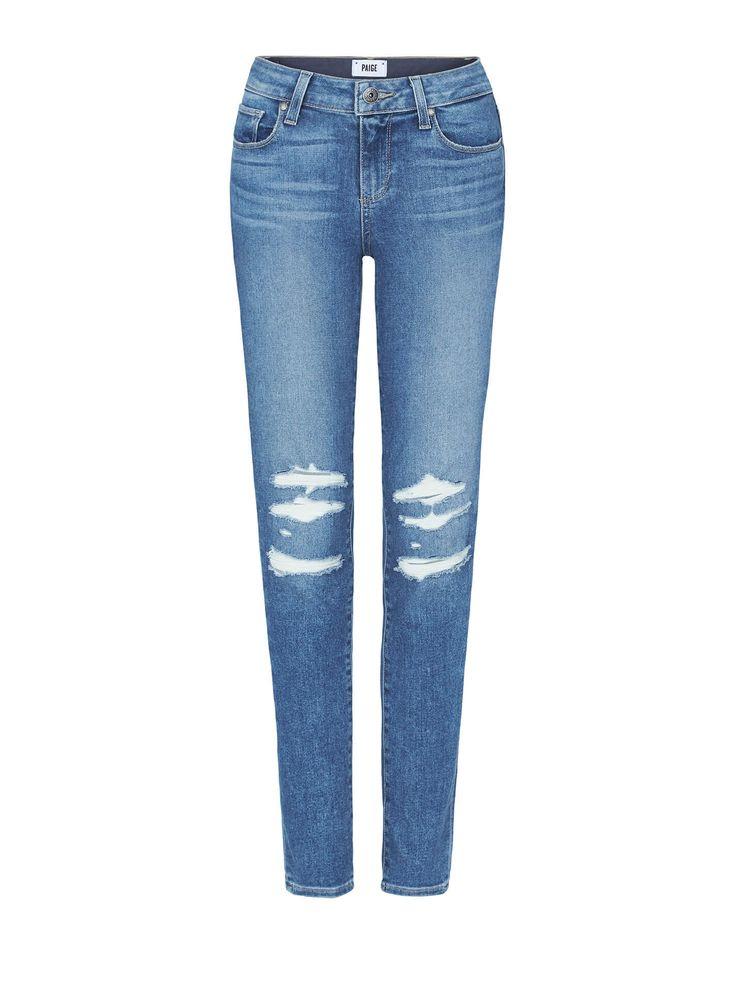 Paige - Denim Skyline Ankle Peg Skinny Mid-Rise Jeans