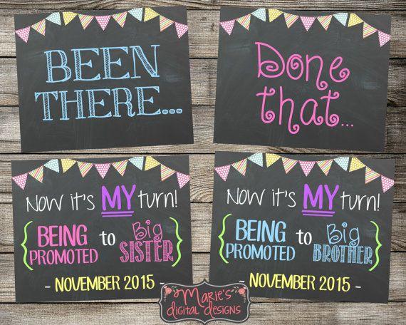 Set of 3 Chalkboard Pregnancy Announcement by MariesDigitalDesigns