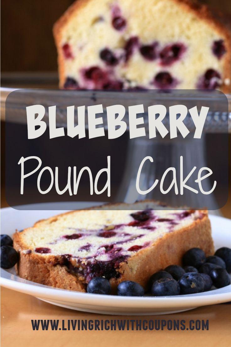 Blueberry Pound Cake Pinterest'te hakkında 1000'den fazla ...