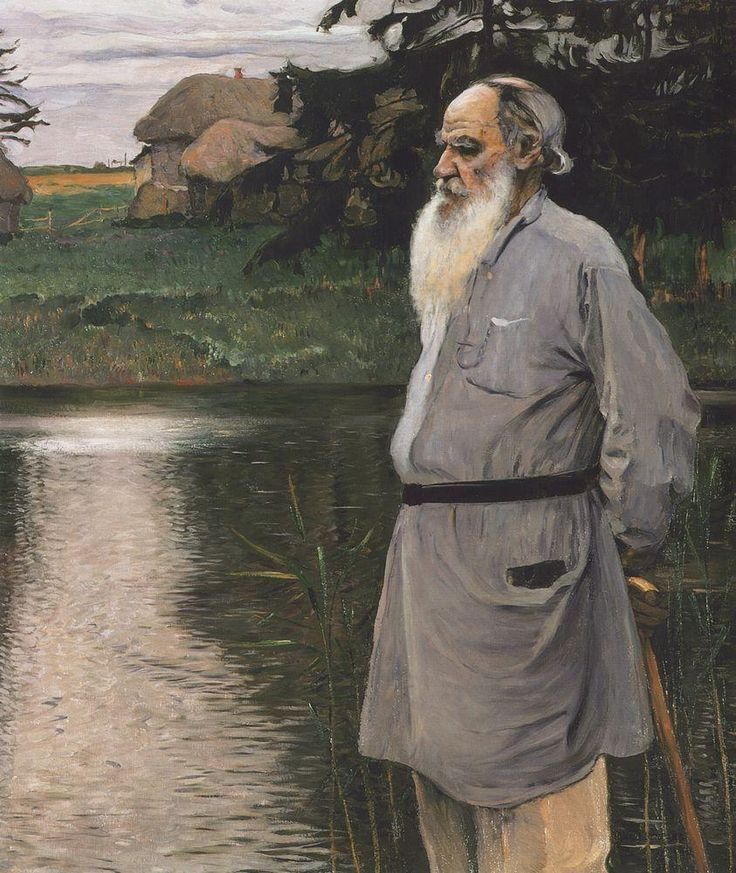 Mikhail Nesterov - Portrait of Leo Tolstoy, 1907