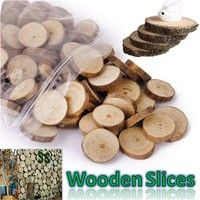Wish   Creative Wood Log Slices Discs 1-3cm DIY Wooden Crafts Wedding Centerpieces Household Garden Decoration Good Gifts (Size: 1pc, 100pcs) €3