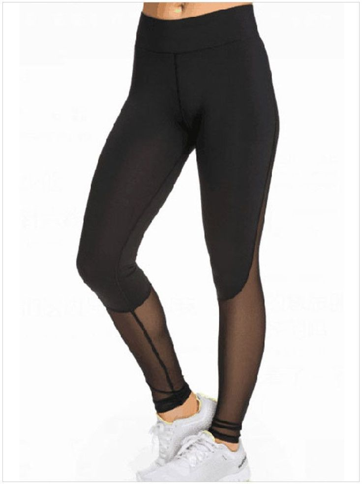 This super stylish Black Mesh Yoga Leggings is just perfect for your yoga classes. It gives you a perfect fit and enhances your curves. It is semi-transparent near the ankle to add that chic look. You