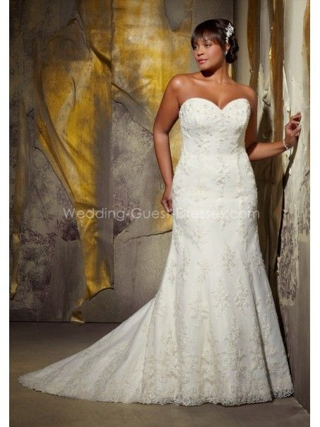 Plus Size Bridal Gowns 2013 2013 Sheath Sweetheart Court Train Lace Plus Size Wedding Dresses