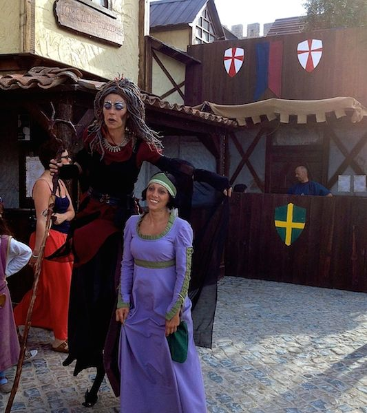 A witch at the Medieval fair