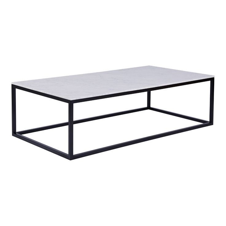 Shop our modern designer Max marble coffee table top on a black steel metal frame, giving your living room a stylish yet contemporary feel.