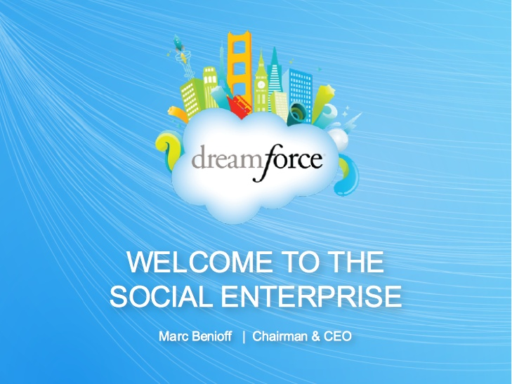 Marc Benioff's Dreamforce 2011 Social Enterprise Keynote http://slidesha.re/pzVYAg