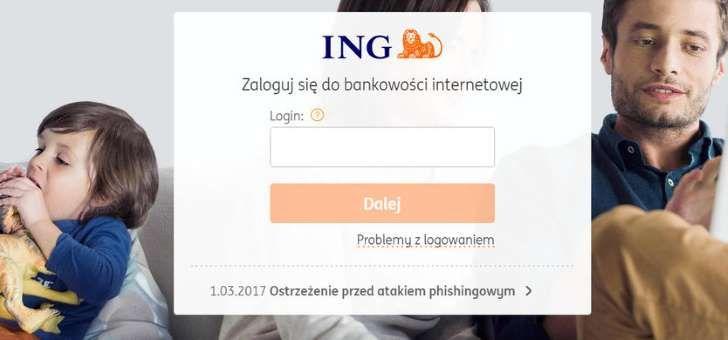 Strona ING Banku Śląskiego