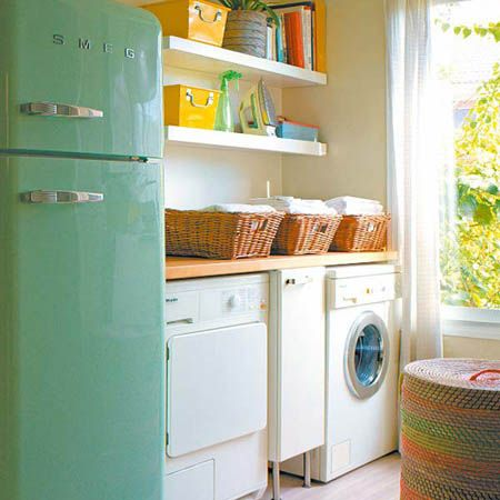best laundry room ever with an Aqua SMEG