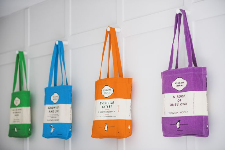 A tote bag for every occasion based on iconic Penguin book covers.