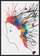 OKULÖNCESİ sulu boya ile saç şekillendirme   OkulÖncesi Sanat ve Fen Etkinlikleri Paylaşım Sitesi
