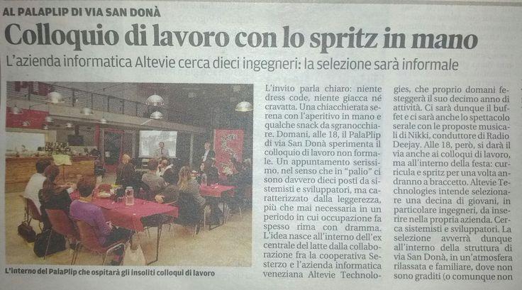 """NiceJob @ Altevie, l'articolo di presentazione de """"La nuova di Venezia e Mestre"""""""