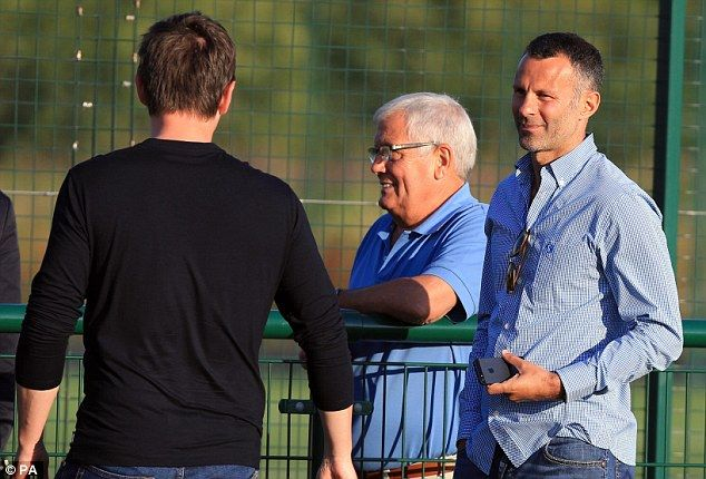 Gary Neville and Ryan Giggs visited the AJ Bell Stadium to watch Salford City's training session