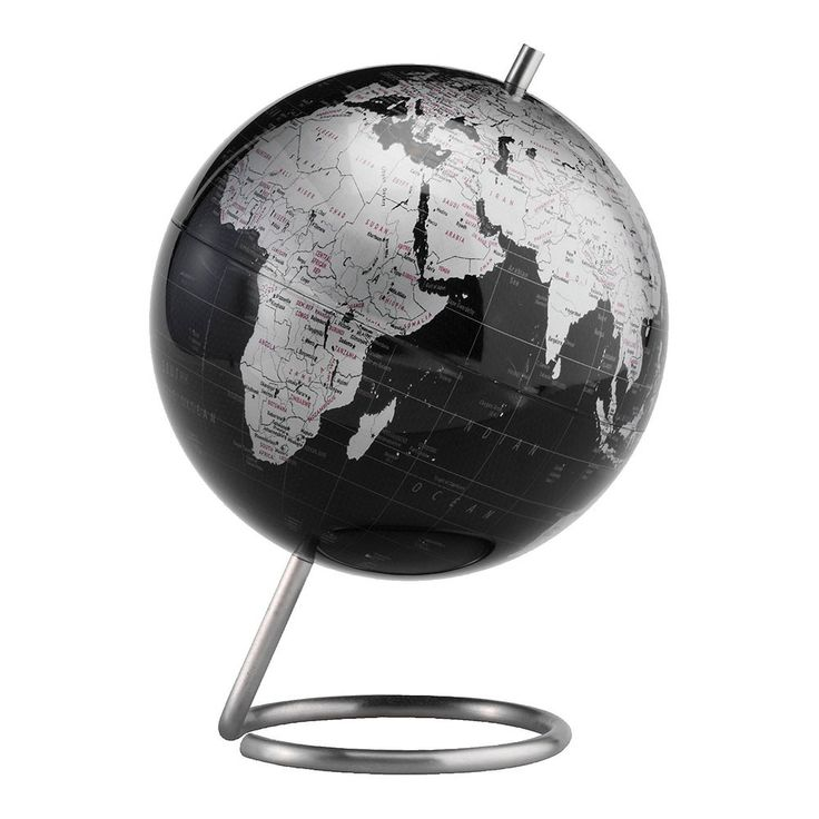 The Spectrum 6 Inch Slate Grey Desktop World Globe By Replogle Is A Gorgeous