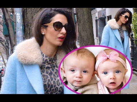 George Clooney S Twins Here Youtube Amal Clooney