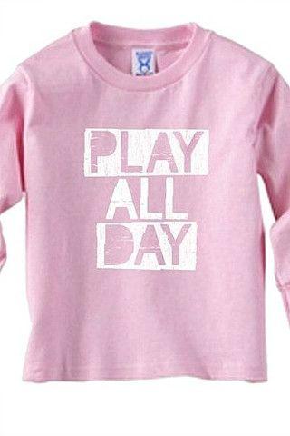 Kids-Play All Day Long Sleeve Tee - Love Threads