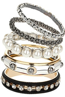 Pearl and Mesh Bracelets.
