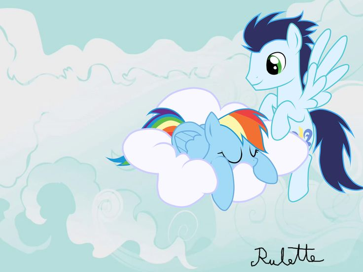 MLP: Soarin and Rainbow Dash- Sleeping beuty by Rulette on deviantART