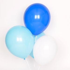 trio ballons bleus