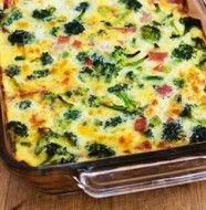 Ham Cheese Broccoli and Egg Bake_
