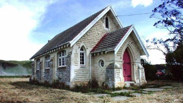 SAINTS AND ANGELS: Georgetown, North Otago - Original 1926 stone church.