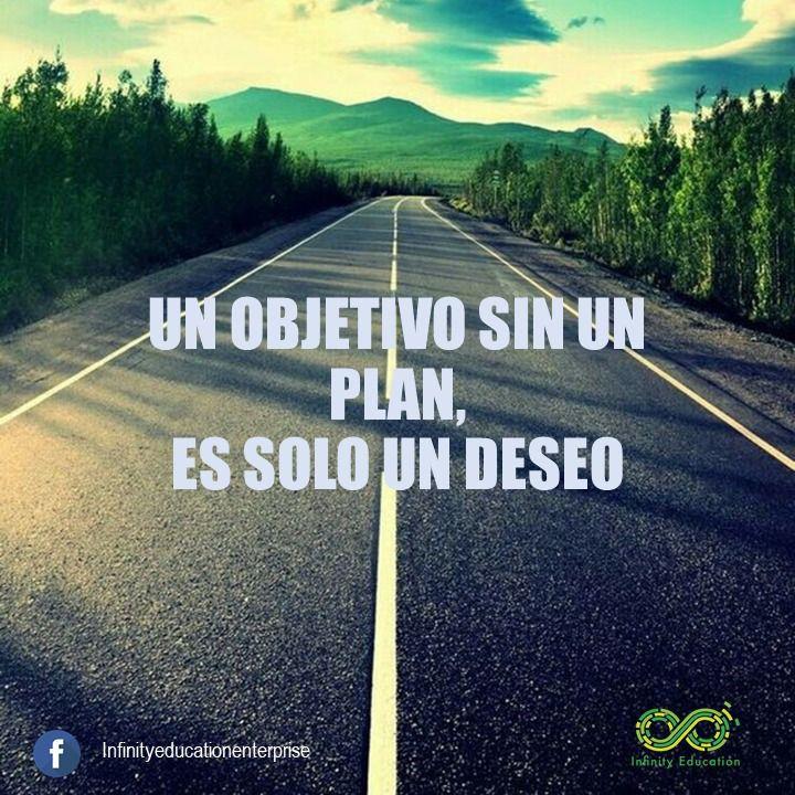 Un Objetivo Sin Plan Es Solo Un Deseo Pensamientos Te