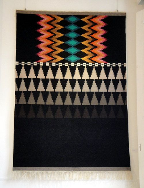 I find this intoxicating. Color, pattern, depth. Just beautiful.    Galinanova is a fantastic new project from designer Carolina Melis. For the past few years, Carolina has been collaborating with artisans from Sardinia, primarily from the villages of Ulassai and Nule, to create beautiful weavings.  via designsponge.com
